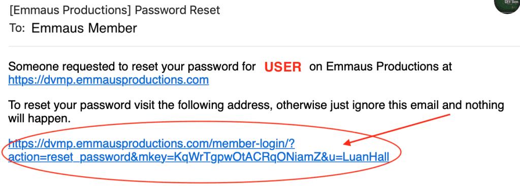 Forgot Password screenshot instructions