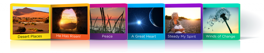 Banner image of video episodes from the Emmaus Online Video Prayer Library